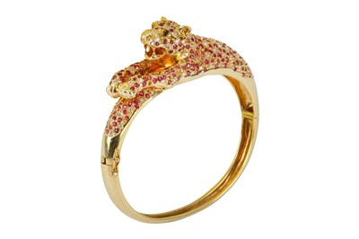 Lot 103-A ruby and diamond bangle