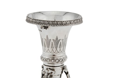 Lot 32-A Victorian sterling silver posy holder, London 1875 by William Neal