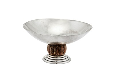 Lot 54-An early 20th century French 950 standard silver and rosewood small dish, Paris circa 1930 by Jean Elysée Puiforcat (1897-1945)