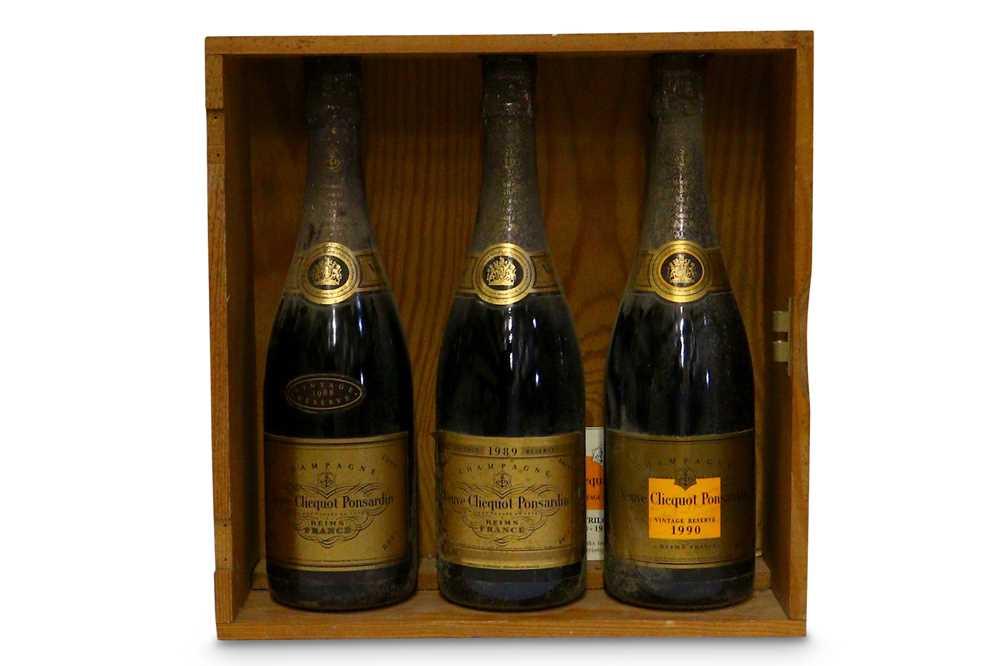 Lot 28-Vertical Vintages of Veuve Cliquot
