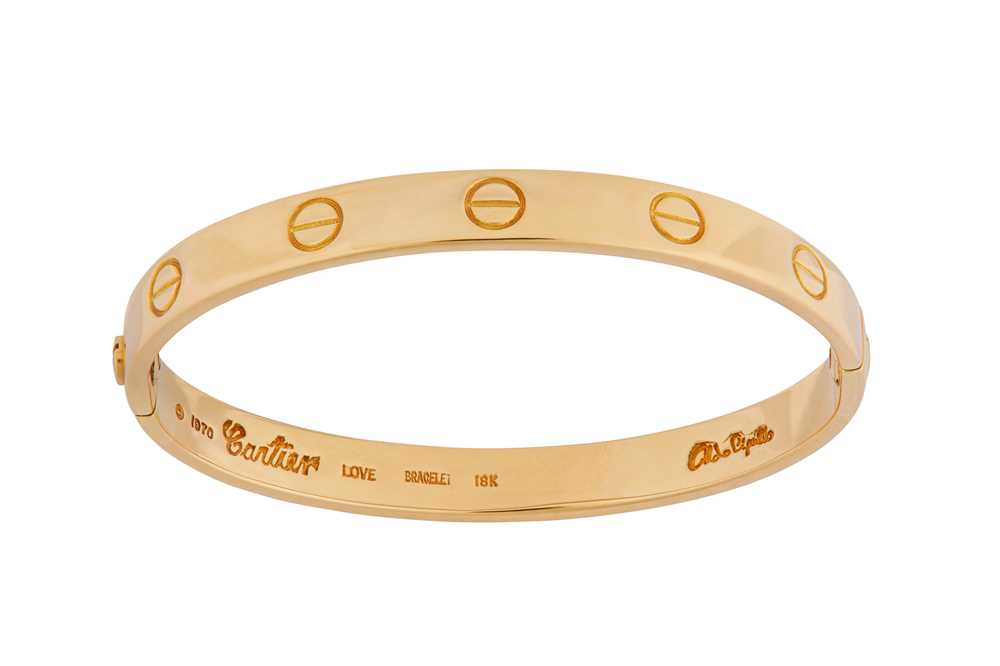 Lot 95 - A Love bracelet, by Aldo Cipullo for Cartier, circa 1970