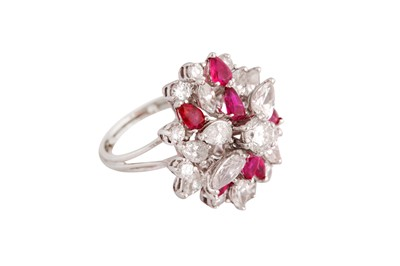 Lot 4-A diamond and ruby dress ring