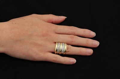 Lot 18-A diamond multi-band ring