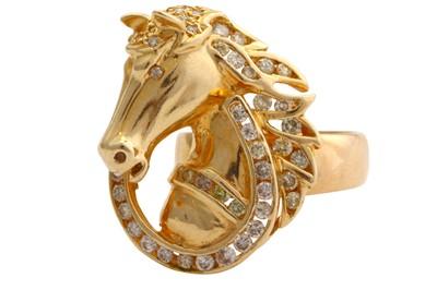 Lot 27-A diamond novelty dress ring