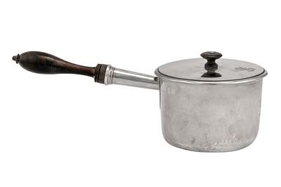Lot 57-An early 19th century French 950 standard silver saucepan, Paris 1812-19 by Pierre-Marie Devilleclair (reg. 1812/13 until 29th Dec 1824)
