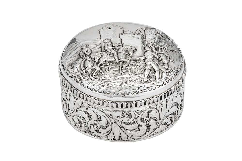 Lot 15-A Victorian sterling silver dressing table box, London 1886 by J.B (unidentified)