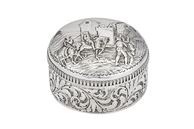 Lot 43-A Victorian sterling silver dressing table box, London 1886 by J.B (unidentified)