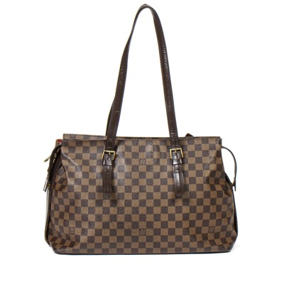 Lot 17-Louis Vuitton Damier Ebene Chelsea Tote