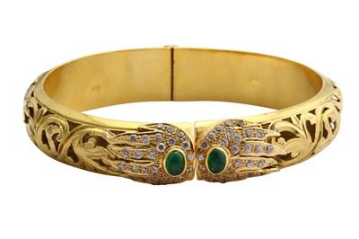 Lot 5-A gem-set hinged bangle