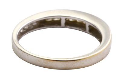 Lot 9-A diamond half hoop ring