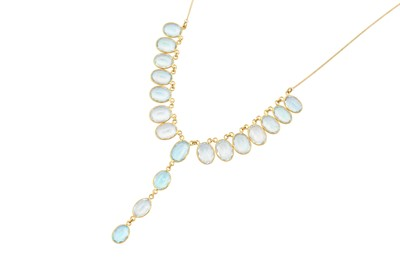 Lot 20-An aquamarine pendant necklace