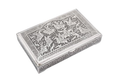Lot 81-A mid to late – 20th century Iranian (Persian) silver cigarette box, Isfahan circa 1970, workshop unidentified