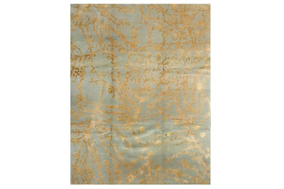 Lot 13-A FINE PART SILK NEPALESE CARPET OF CONTEMPORARY DESIGN
