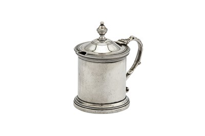 Lot 59-A Charles IV early 19th century Spanish silver mustard pot, Madrid 1802, no makers mark
