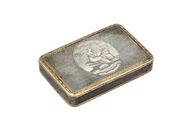 Lot 53-An Alexander I Russian provincial 84 Zolotnik (875 standard) parcel-gilt silver and niello snuff box, Veliky Ustyug 1813(?) by Fedor Klimov Bushkovsky (b. 1778 active 1795-1834)