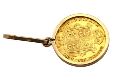 Lot 20-A Queen Victoria half sovereign pendant