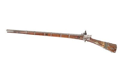 Lot 862-λ A BONE AND MICROMOSAIC-INLAID OTTOMAN MIQUELET-LOCK RIFLE