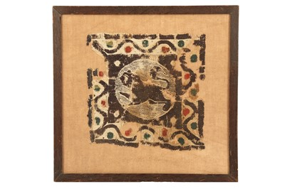 Lot 123-A FRAGMENTARY COPTIC TAPESTRY PANEL