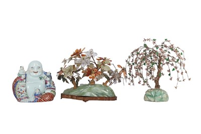 Lot 78-TWO CHINESE BOULDERS WITH PLANTS.