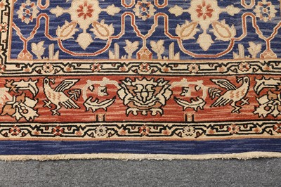 Lot 17-UNUSUAL SUMAC STYLE INDIAN CARPET OF ARTS & CRAFTS DESIGN