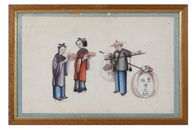 Lot 72-A SET OF TWELVE 20TH CENTURY CHINESE PAINTINGS OF FIGURES