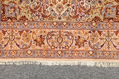 Lot 26-AN EXTREMELY FINE PART SILK ISFAHAN RUG, CENTRAL PERSIA