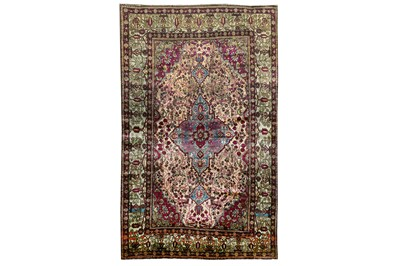 Lot 74-A VERY FINE ANTIQUE SILK FERAGHAN RUG, WEST PERSIA