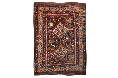 Lot 72-AN  ANTIQUE HAMSEH RUG, SOUTH-WEST PERSIA