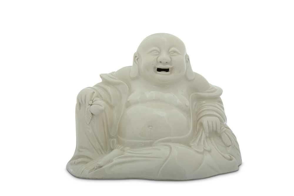 Lot 47-A CHINESE BLANC-DE-CHINE FIGURE OF BUDAI HESHANG.