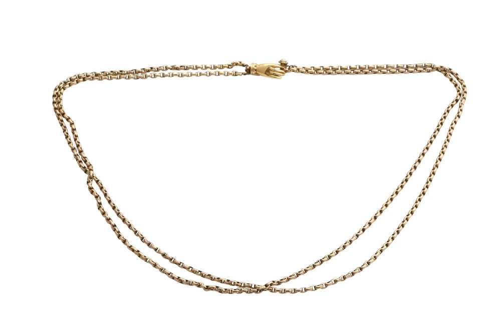 Lot 31-A fancy-link necklace