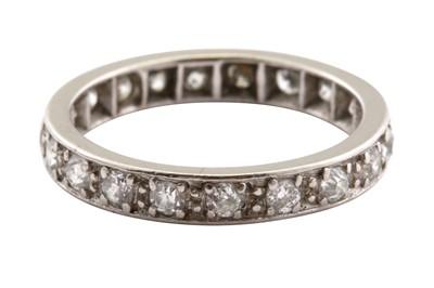 Lot 14-A diamond eternity ring