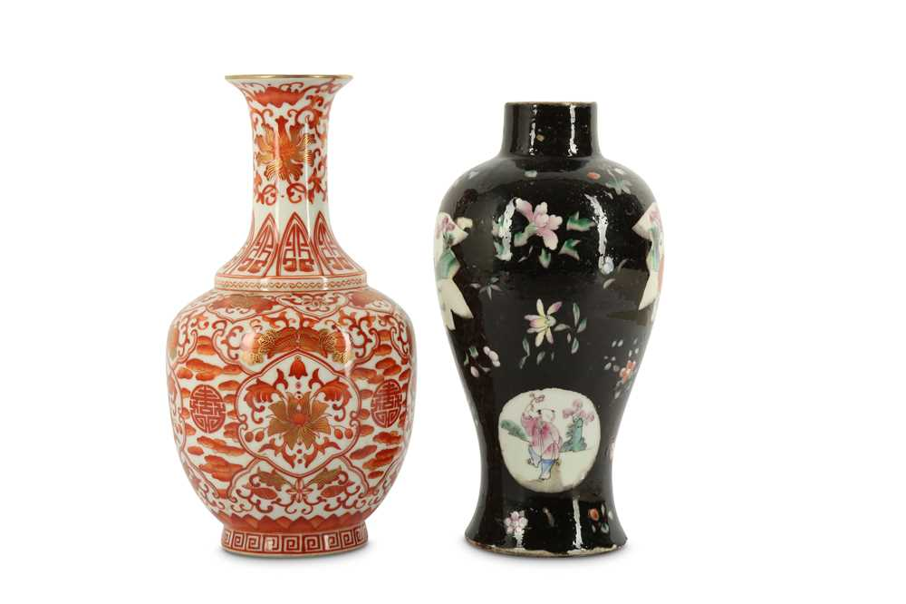 Lot 32-TWO CHINESE VASES.