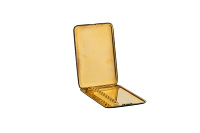 Lot 25-An early 20th century French Art Deco 950 standard silver gilt and lacquer cigarette case, circa 1925 by Michel Royer (reg. 1908)