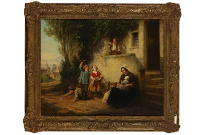 Lot 134-HENRI JOSEPH DILLENS (BELGIAN 1812 - 1872)