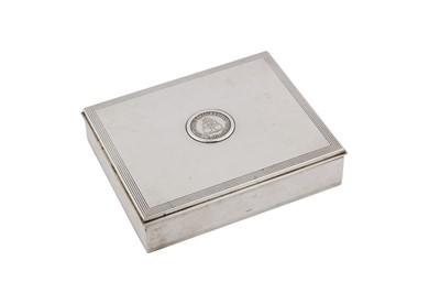Lot 71-A mid-20th century Danish sterling silver games box, Vejle circa 1960 by Jørgen Frandsen (active 1948-73)