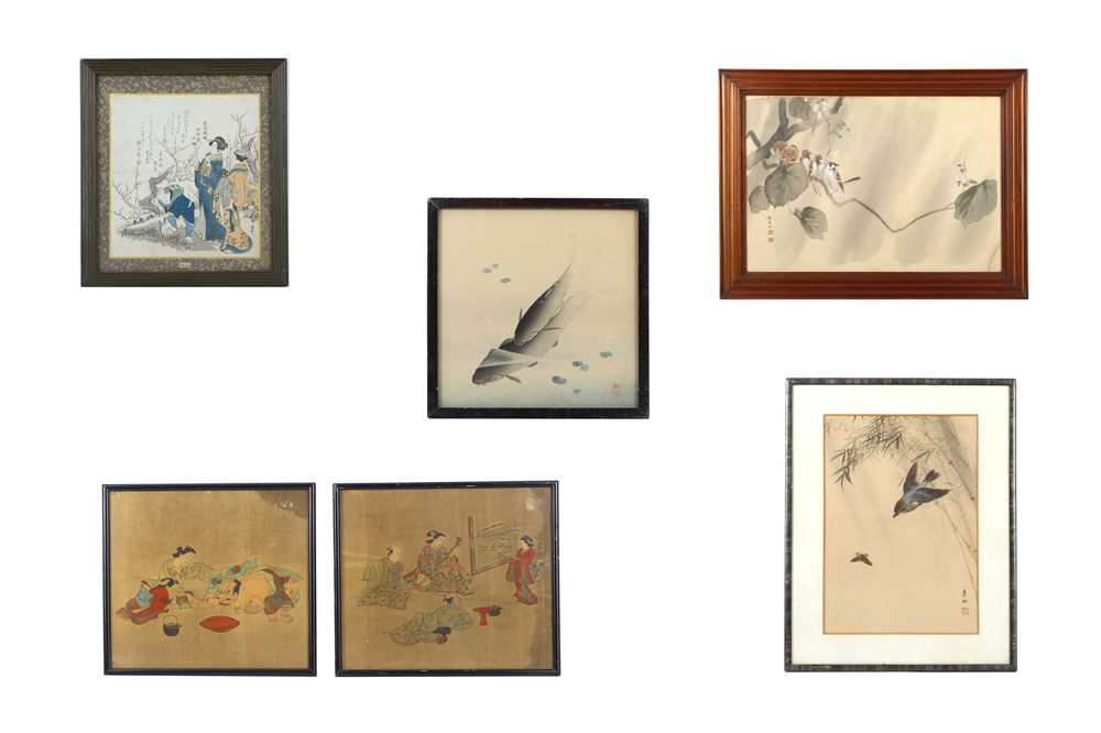 A collection of Japanese paintings and prints