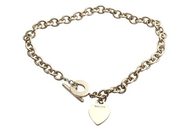 Lot 26-A silver necklace by Tiffany & Co.