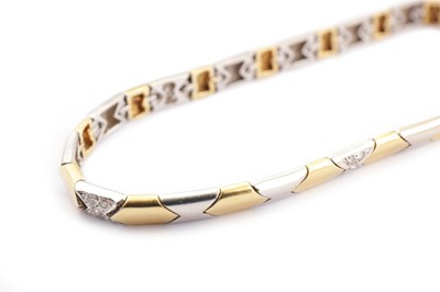 Lot 12-A diamond-set bracelet