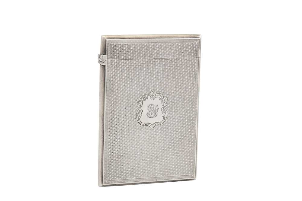 Lot 2-A Victorian sterling silver card case, Birmingham 1857 by Edward Smith