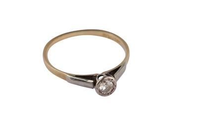 Lot 119-A diamond ring and a fancy-link bracelet