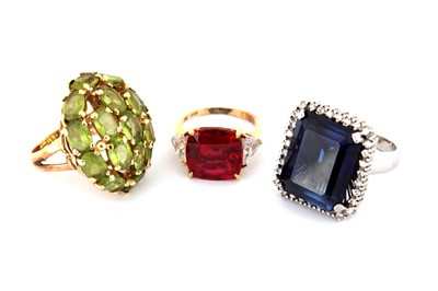 Lot 120-A collection of rings