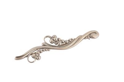 Lot 122-A silver brooch by George Jensen