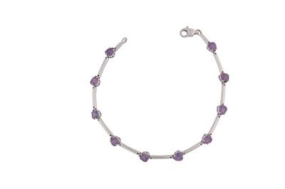 Lot 112-A gem-set line bracelet