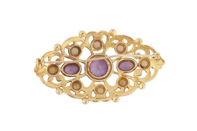 Lot 115-A 9 carat gold amethyst brooch