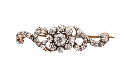 Lot 40-A diamond brooch, circa 1895