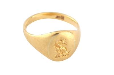 Lot 118-A signet ring