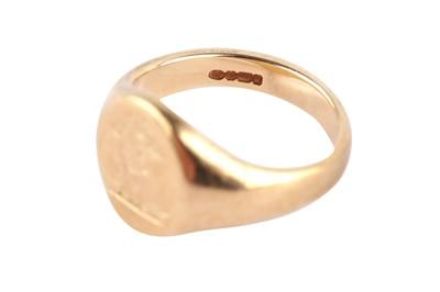 Lot 124-A 9 carat gold signet ring
