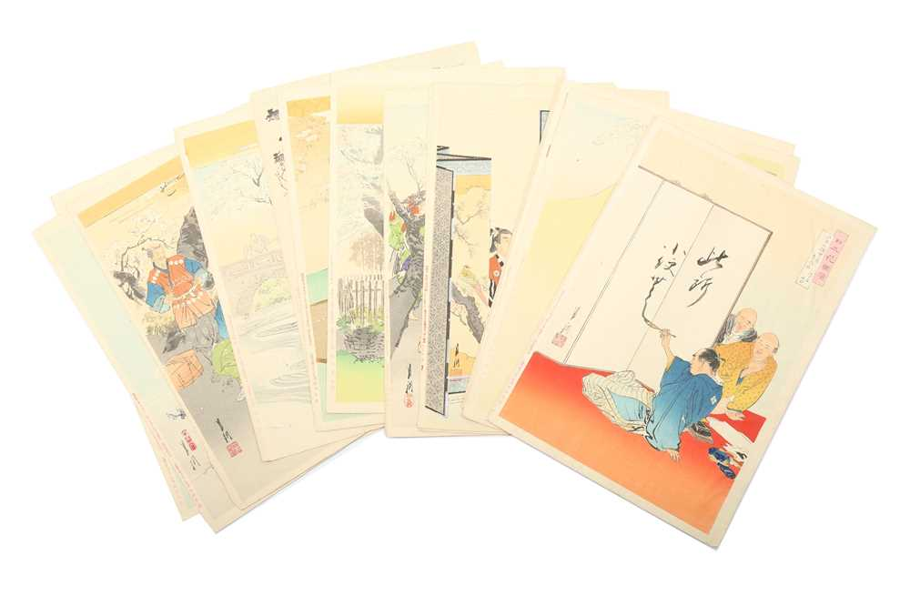 A GROUP OF JAPANESE WOODBLOCK PRINTS BY OGATA GEKKO.