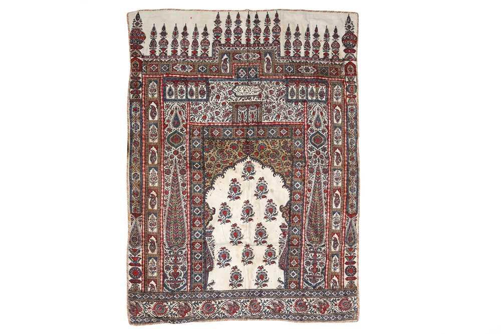 Lot 131-AN INDO-PERSIAN KALAMKARI PRAYER NICHE