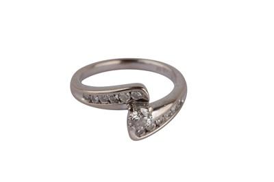 Lot 108-A diamond crossover ring